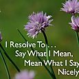 Day 124 - I Resolve To™. . . Be Conscious Of My Words And Actions!