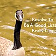 Day 100 - I Resolve To® . . . Be Mindful About The Way I Listen & Communicate! (2010)