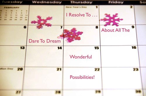 Day 1 - I Resolve To™. . . Dream Large In 2009!